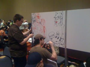 Paul and Joe, artfighting.